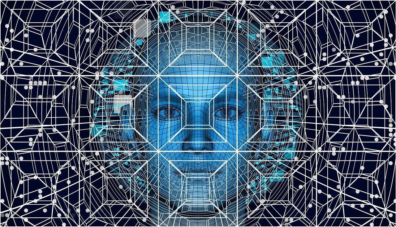 Immagine di un volto futuristico